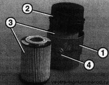 масляный фильтр со сменной фильтрующей частью